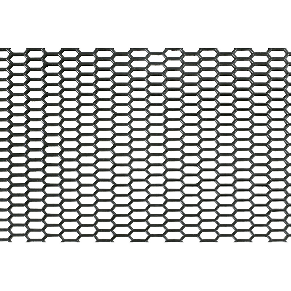 Original-Look, griglia aerazione in PP - Esagono fine 8x18 mm - 120x40 cm - Nero