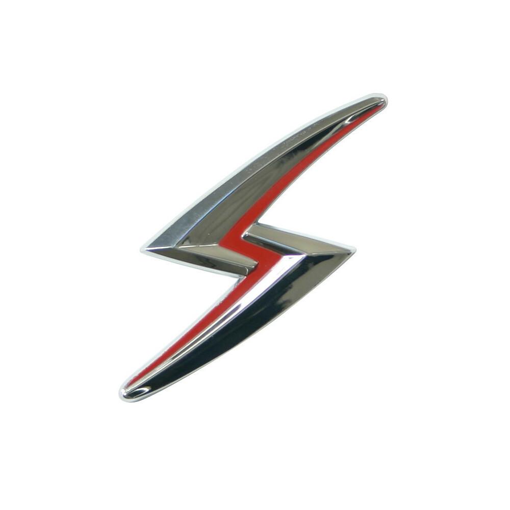 Emblema 3D cromato bicolore - Saetta