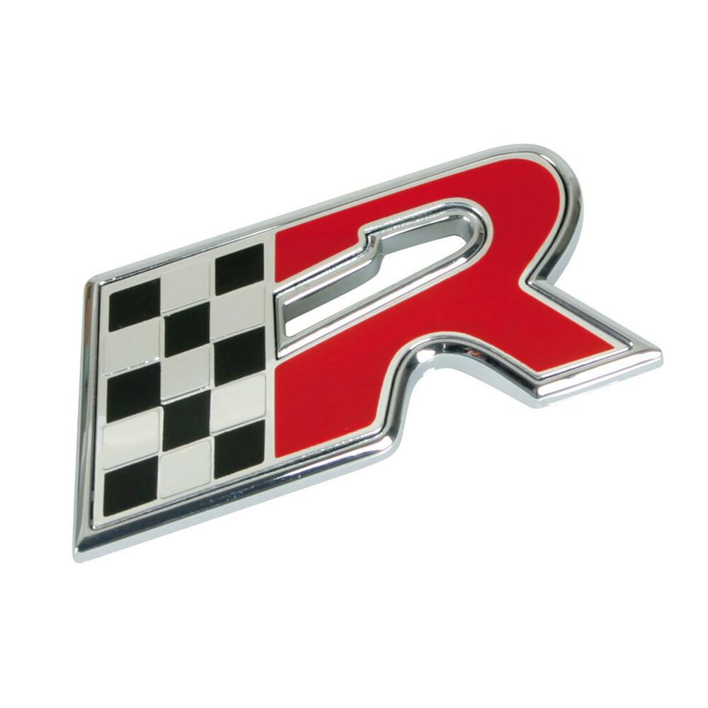 Emblema 3D cromato bicolore - R-Flag