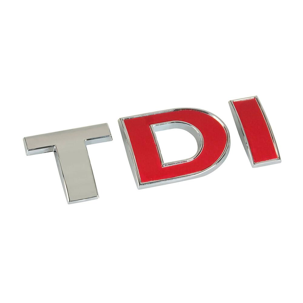 Emblema 3D cromato bicolore - TDI