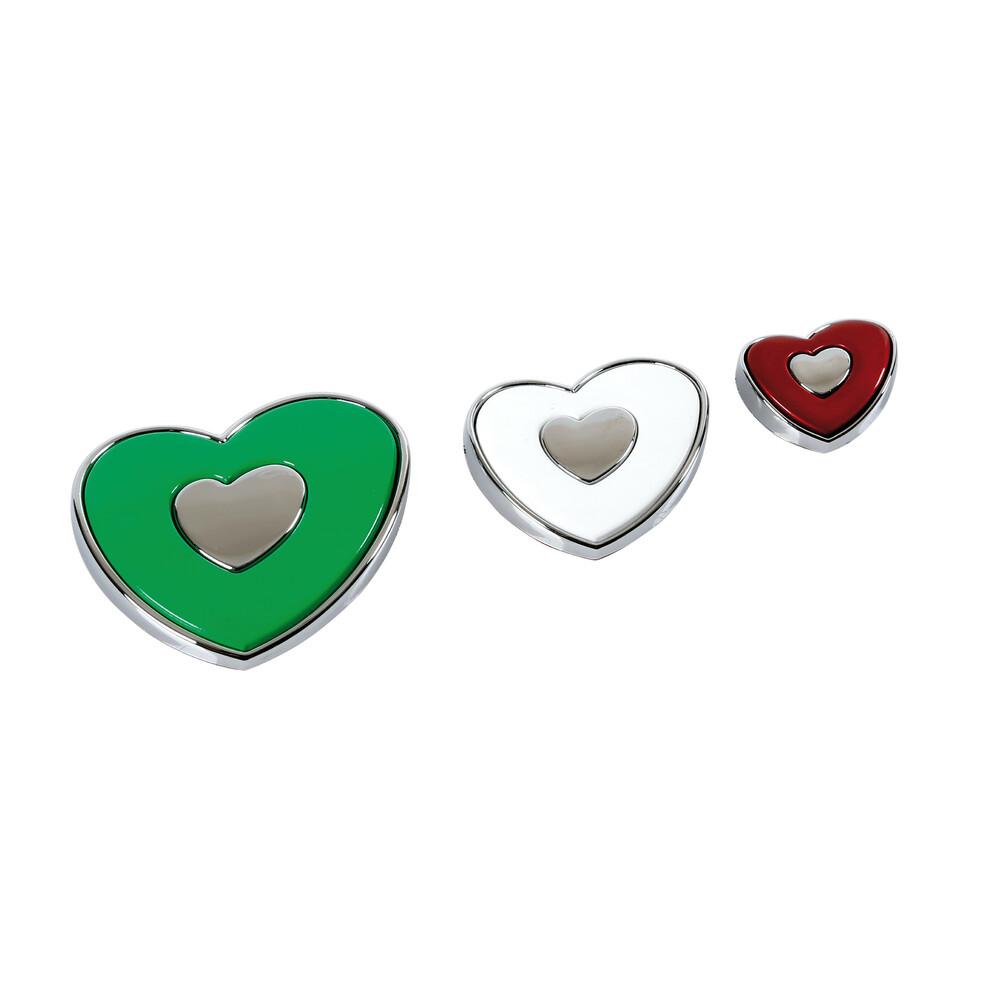Hearts cuori tricolore, decorazioni adesive
