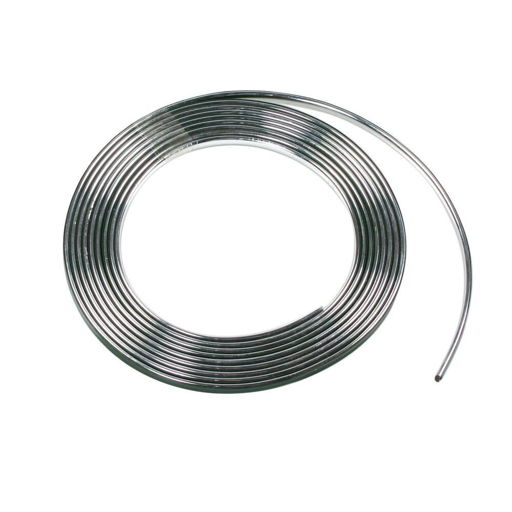 Profilo adesivo cromato - 25 m - 9 mm