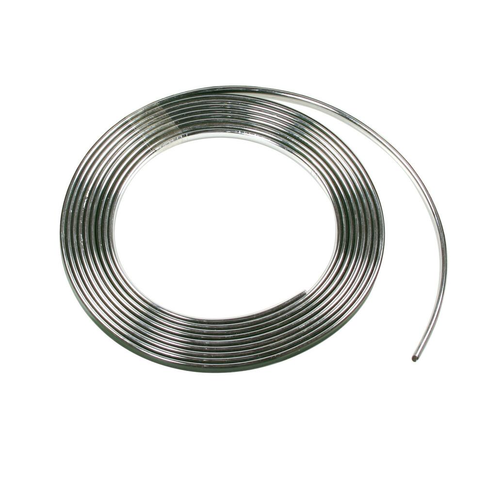 Profilo adesivo cromato - 4 m - 7 mm