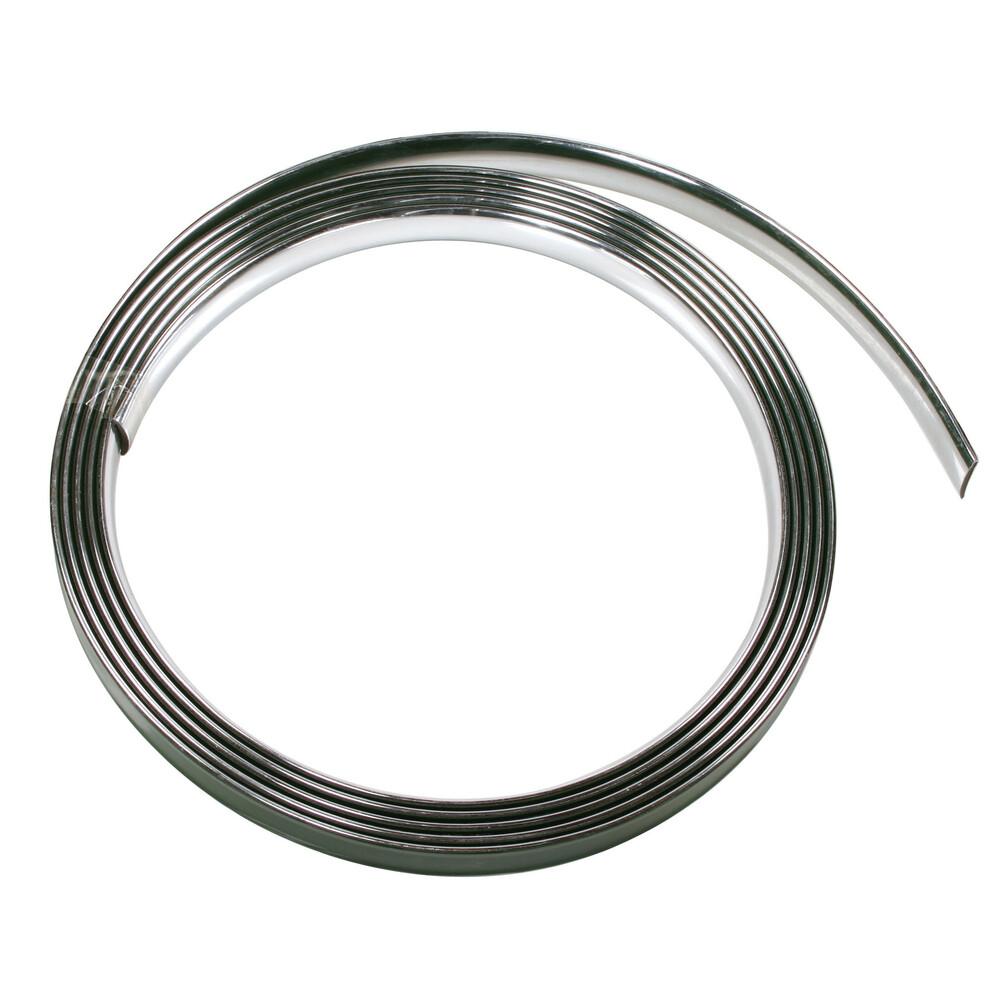 Profilo adesivo cromato - 4 m - 21 mm