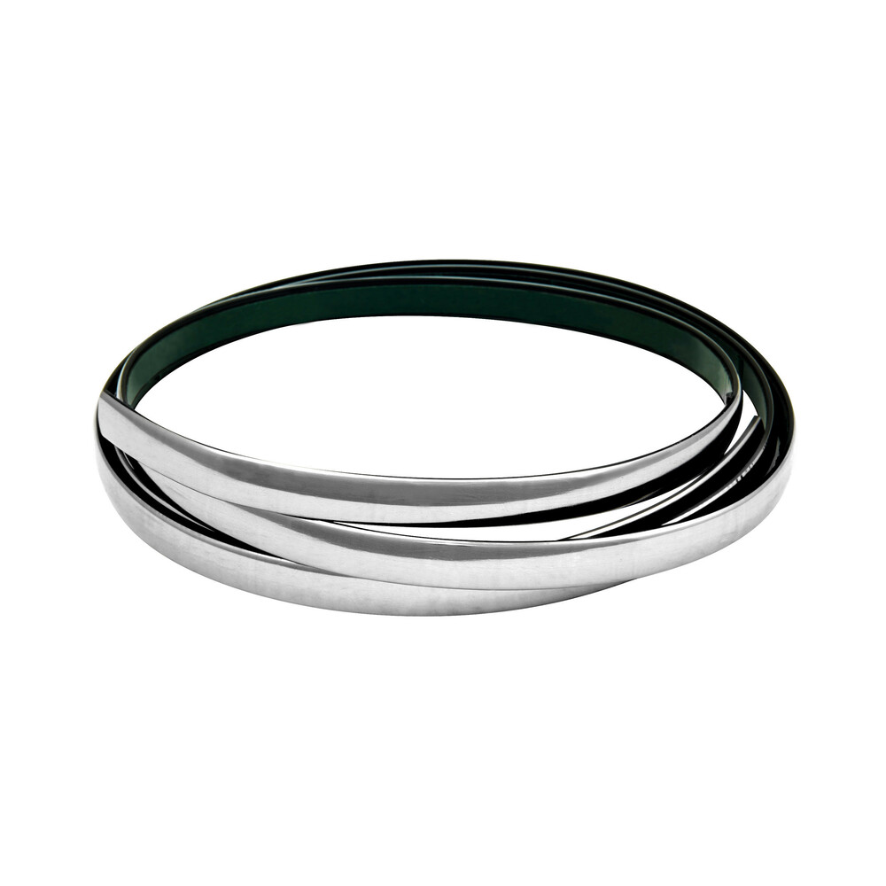 Profilo adesivo cromato - 4 m - 14 mm