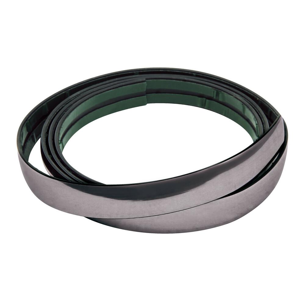 Profilo adesivo cromato nero - 4 m - 39 mm