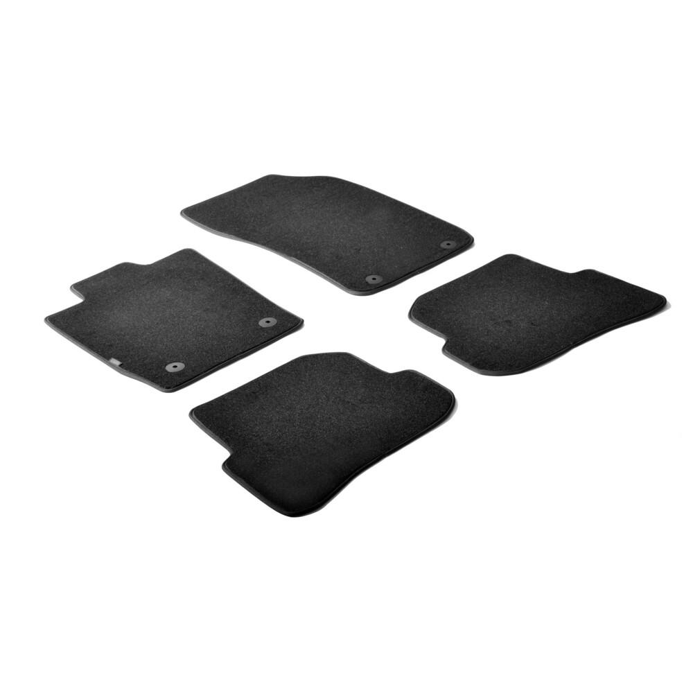 Set tappeti su misura in moquette - Nero -  Audi A1 3p (09/10>) -  Audi A1 Sportback 5p (02/12>)