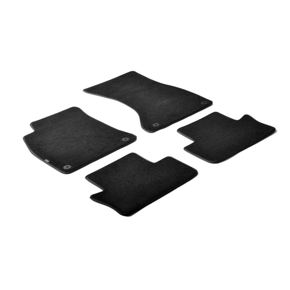 Set tappeti su misura in moquette - Nero -  Audi A4 4p (01/01>10/07) -  Audi A4 Cabrio (05/02>03/08) -  Seat Exeo 4p (05/09>12/1