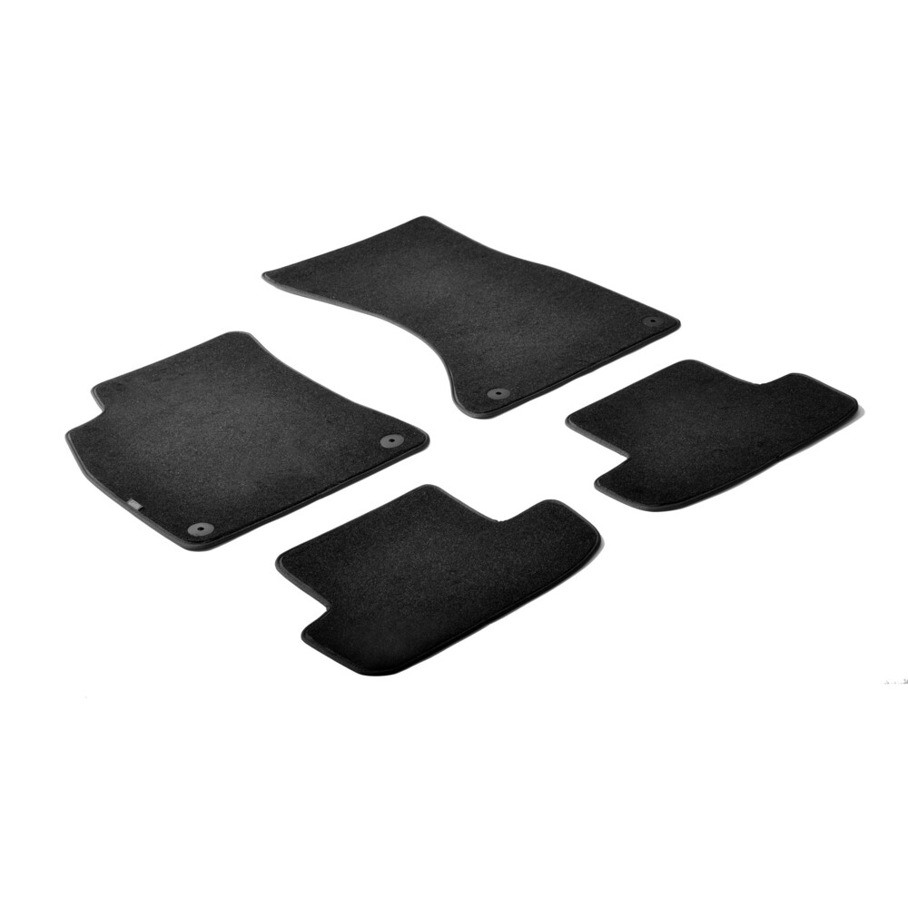 Set tappeti su misura in moquette - Nero -  Audi A5 Cabrio (03/09>02/17) -  Audi A5 Coupè 2p (06/07>08/16) -  Audi A5 Sportback