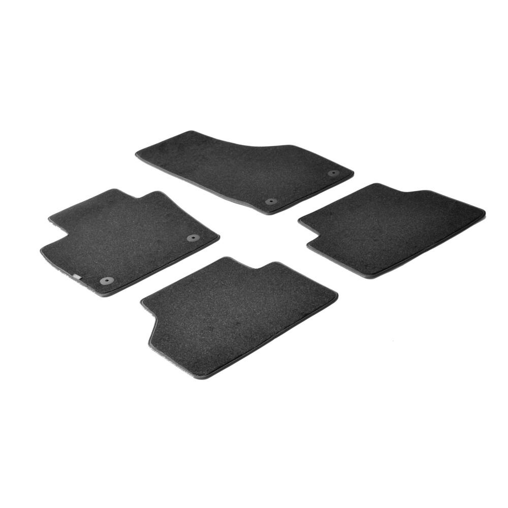 Set tappeti su misura in moquette - Nero -  Audi Q3 (10/11>01/15) -  Audi Q3 (02/15>)
