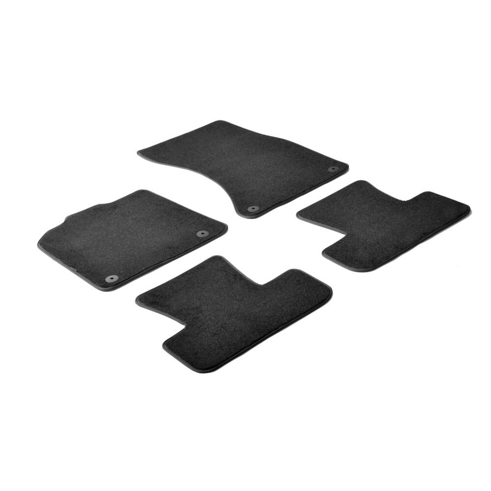 Set tappeti su misura in moquette - Nero -  Audi Q5 (11/08>02/17)
