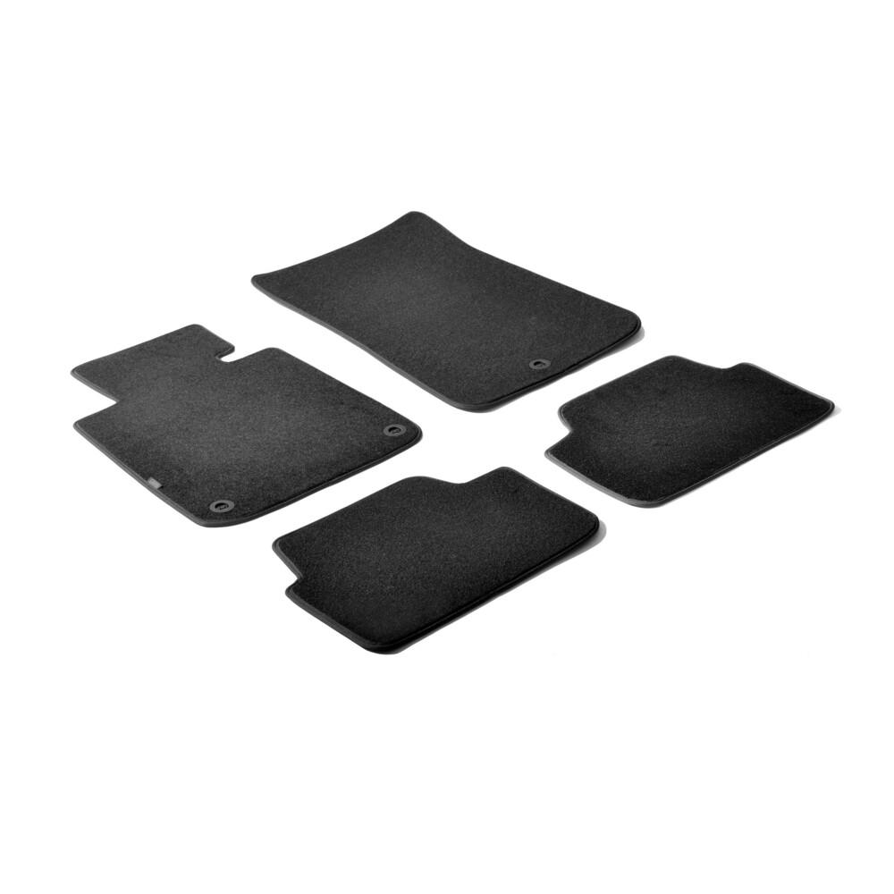 Set tappeti su misura in moquette - Nero -  Bmw Serie 1 (E81) 3p (03/07>06/12) -  Bmw Serie 1 (E87) 5p (09/04>08/11) -  Bmw Seri