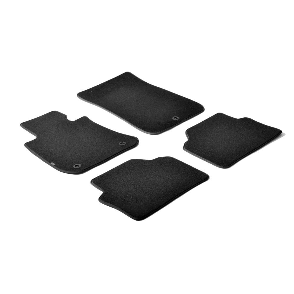 Set tappeti su misura in moquette - Nero -  Bmw Serie 3 (E90) 4p (03/05>01/12) -  Bmw Serie 3 Touring (E91) (09/05>05/12)