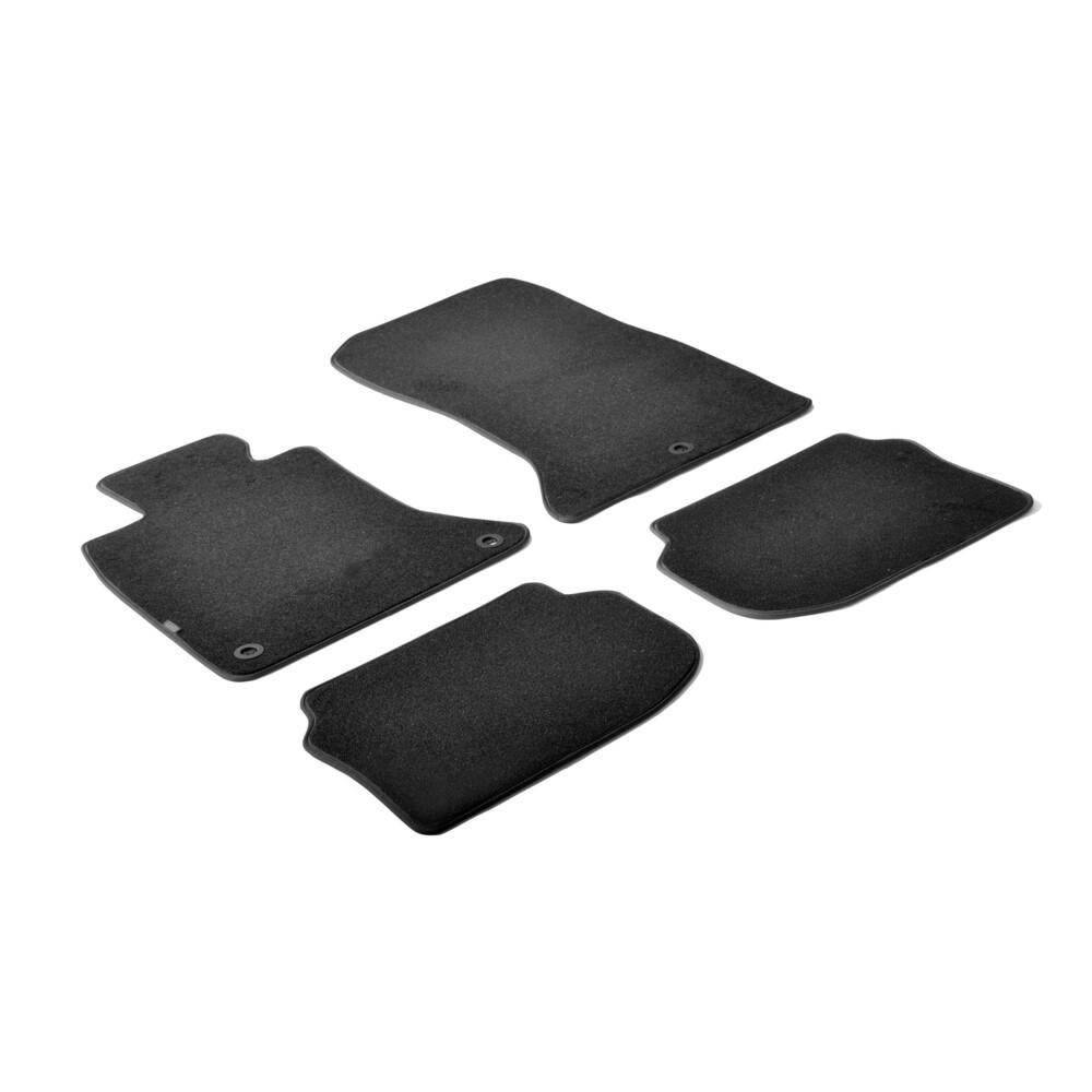Set tappeti su misura in moquette - Nero -  Bmw Serie 5 (F10) 4p (01/10>01/17) -  Bmw Serie 5 Gran Turismo (F07) 4p (09/09>) -
