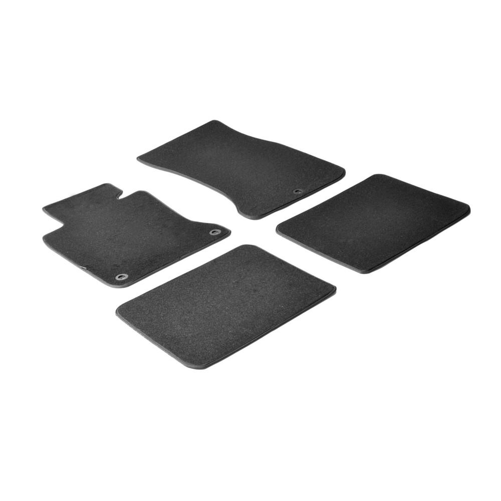 Set tappeti su misura in moquette - Nero -  Bmw Serie 7 (E65) (E66) (11/01>09/08)