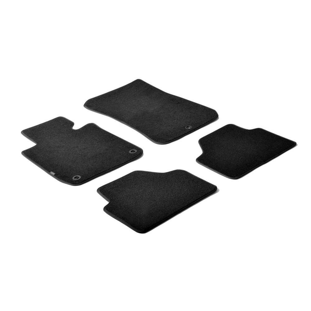 Set tappeti su misura in moquette - Nero -  Bmw X1 (E84) (10/09>10/15)
