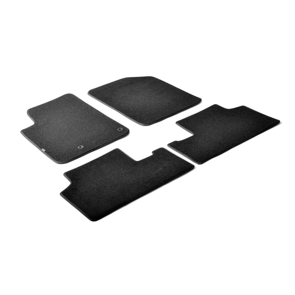 Set tappeti su misura in moquette - Nero -  Citroen Berlingo (van) (05/96>03/08) -  Citroen Berlingo Multispace 5p (05/96>03/08)