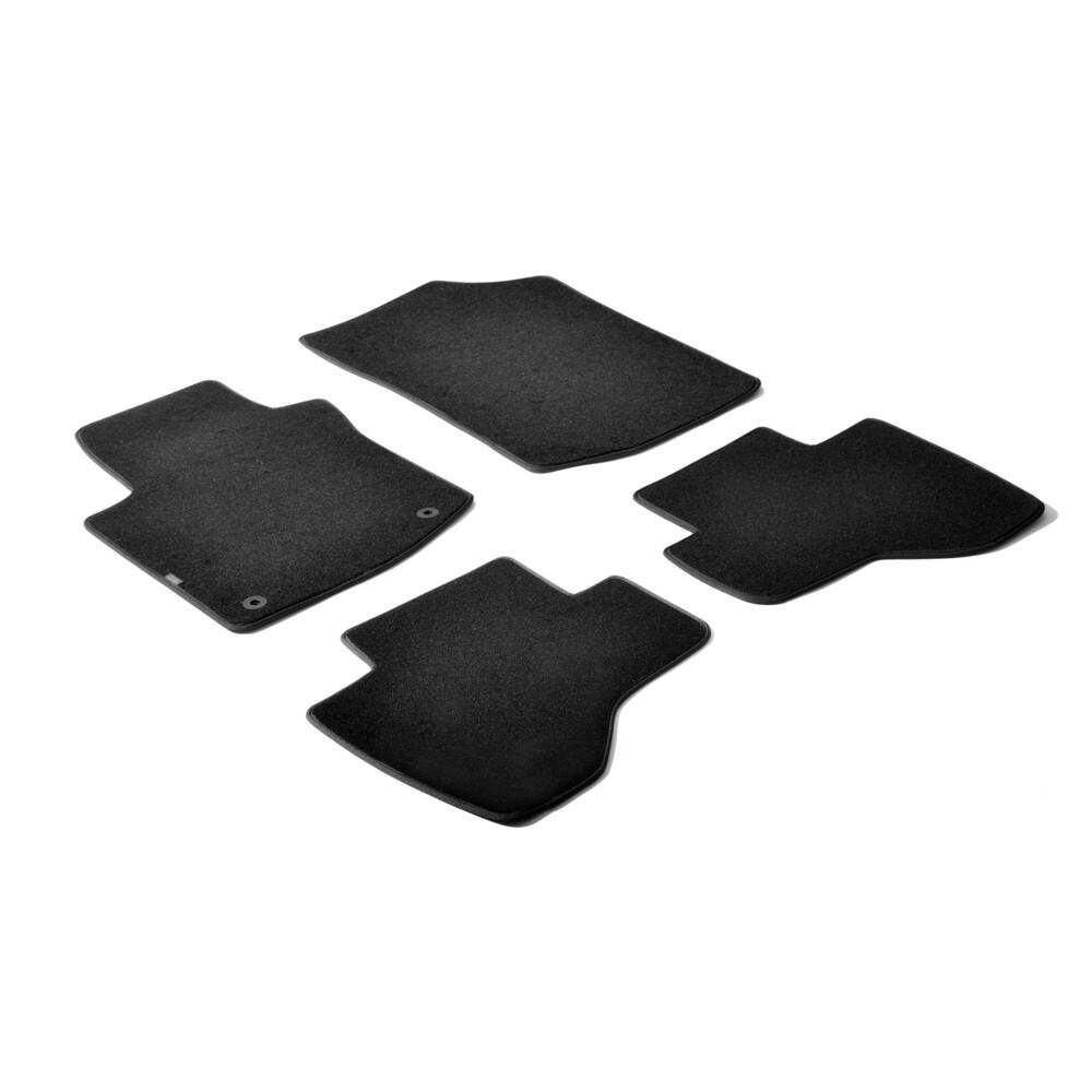 Set tappeti su misura in moquette - Nero -  Citroen C1 3p (05/05>05/14) -  Citroen C1 5p (05/05>05/14) -  Peugeot 107 3p (07/05>