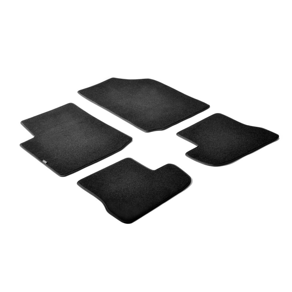 Set tappeti su misura in moquette - Nero -  Citroen C2 (10/03>03/10)