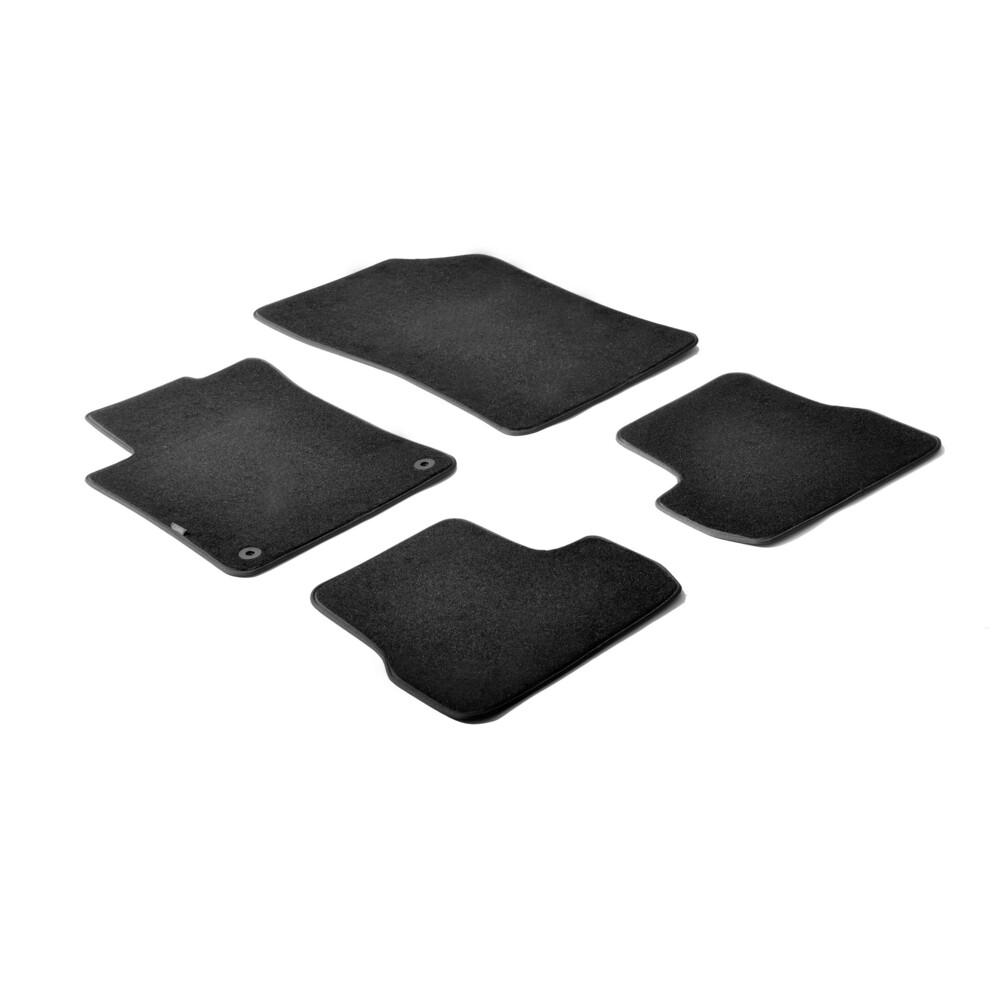 Set tappeti su misura in moquette - Nero -  Citroen C3 (11/09>10/16)