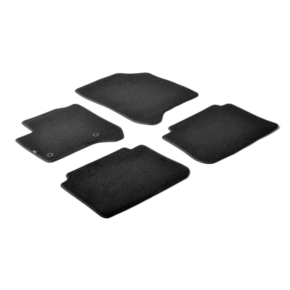 Set tappeti su misura in moquette - Nero -  Citroen C3 Picasso (01/09>09/16)