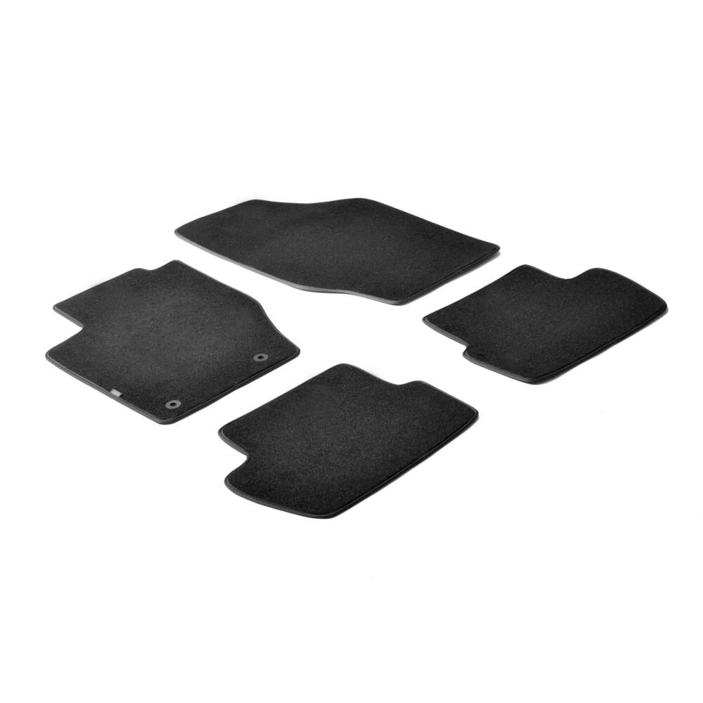 Set tappeti su misura in moquette - Nero -  Citroen C4 3p (01/05>10/10) -  Citroen C4 5p (01/05>10/10)