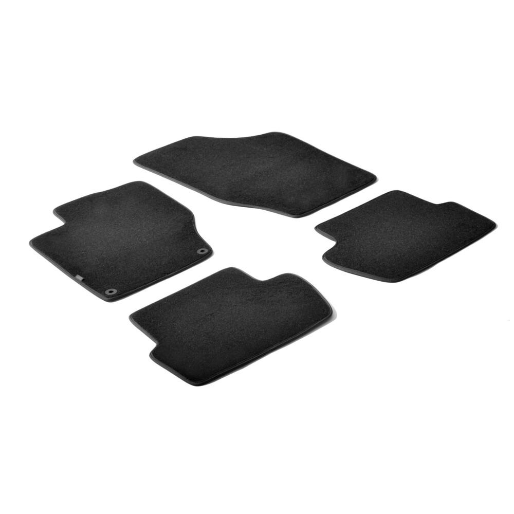 Set tappeti su misura in moquette - Nero -  Citroen C4 5p (11/10>)