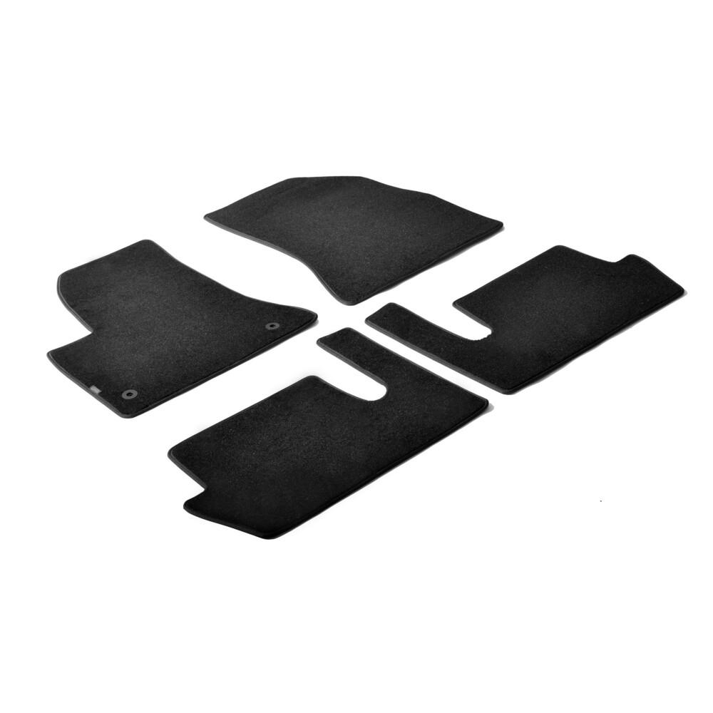 Set tappeti su misura in moquette - Nero -  Citroen C4 Grand Picasso (10/06>09/13) -  Citroen C4 Picasso (03/07>05/13)