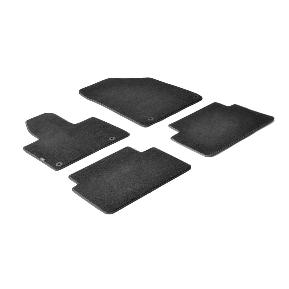 Set tappeti su misura in moquette - Nero -  Citroen C5 4p (05/08>) -  Citroen C5 Tourer (05/08>)