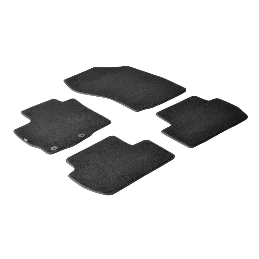 Set tappeti su misura in moquette - Nero -  Citroen C-Crosser (06/07>01/13) -  Mitsubishi Outlander (02/07>02/10) -  Mitsubishi