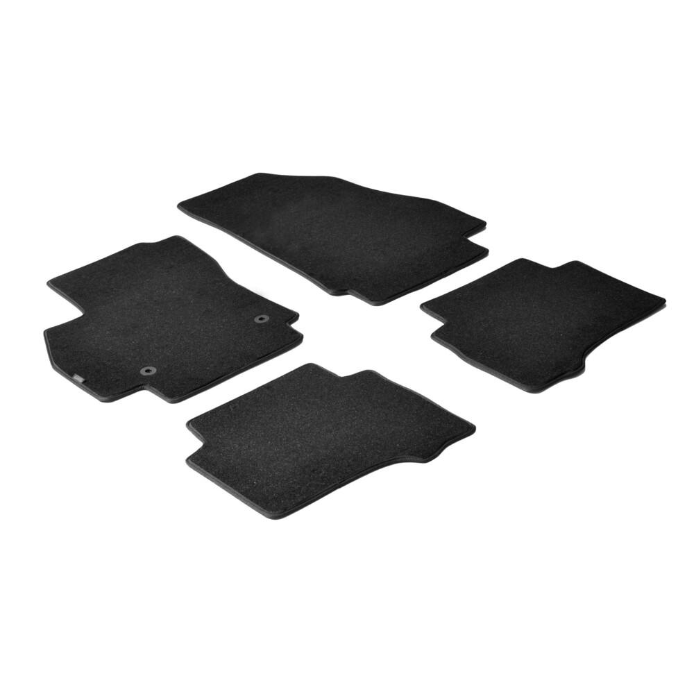 Set tappeti su misura in moquette - Nero -  Citroen Nemo 5p (12/08>03/14) -  Citroen Nemo Van (van) (12/08>) -  Fiat Fiorino (va