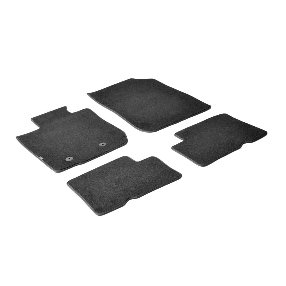 Set tappeti su misura in moquette - Nero -  Dacia Duster (05/10>)