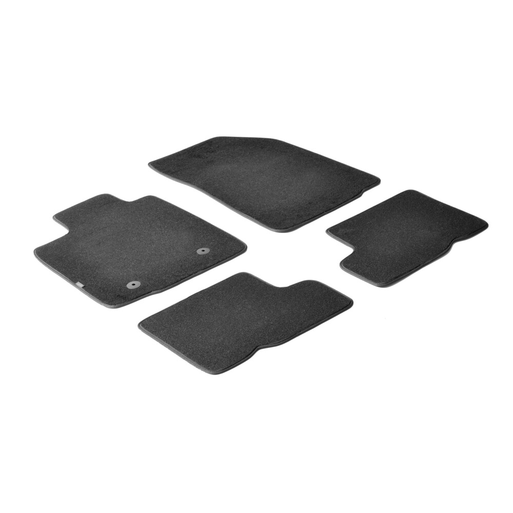 Set tappeti su misura in moquette - Nero -  Dacia Sandero (09/08>12/12) -  Dacia Sandero Stepway (07/09>12/12)