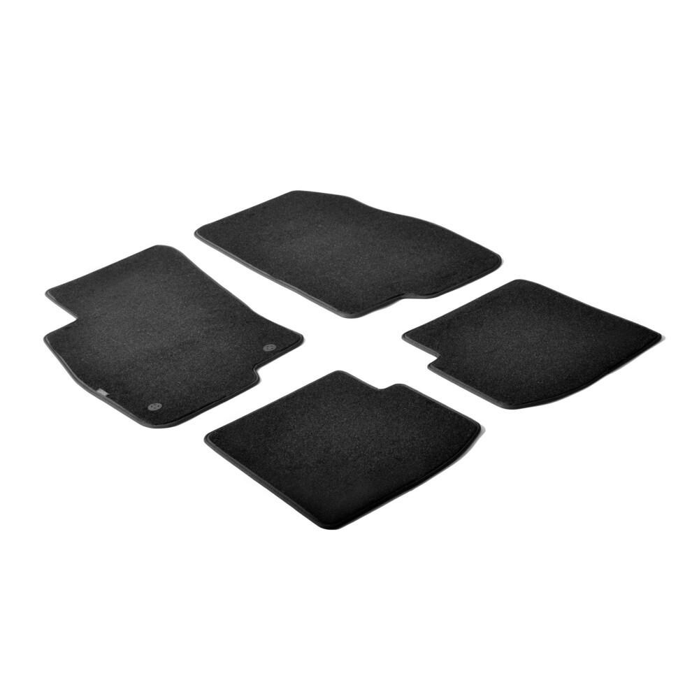 Set tappeti su misura in moquette - Nero -  Abarth Punto 3p (05/08>06/11) -  Abarth Punto Evo 3p (06/10>04/12) -  Fiat Punto 3p
