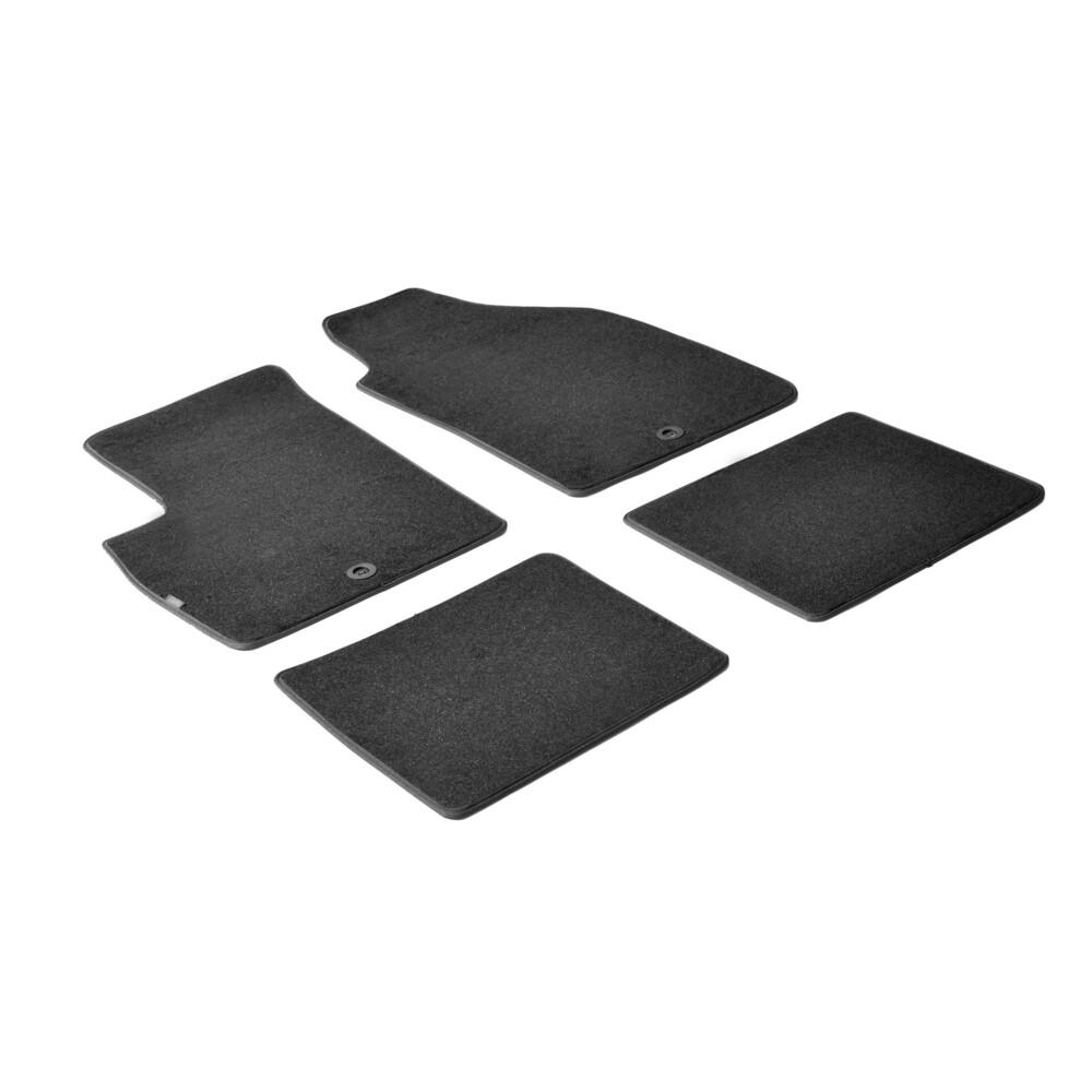 Set tappeti su misura in moquette - Nero -  Fiat Panda (09/03>01/12) -  Fiat Panda Classic (02/12>12/12)