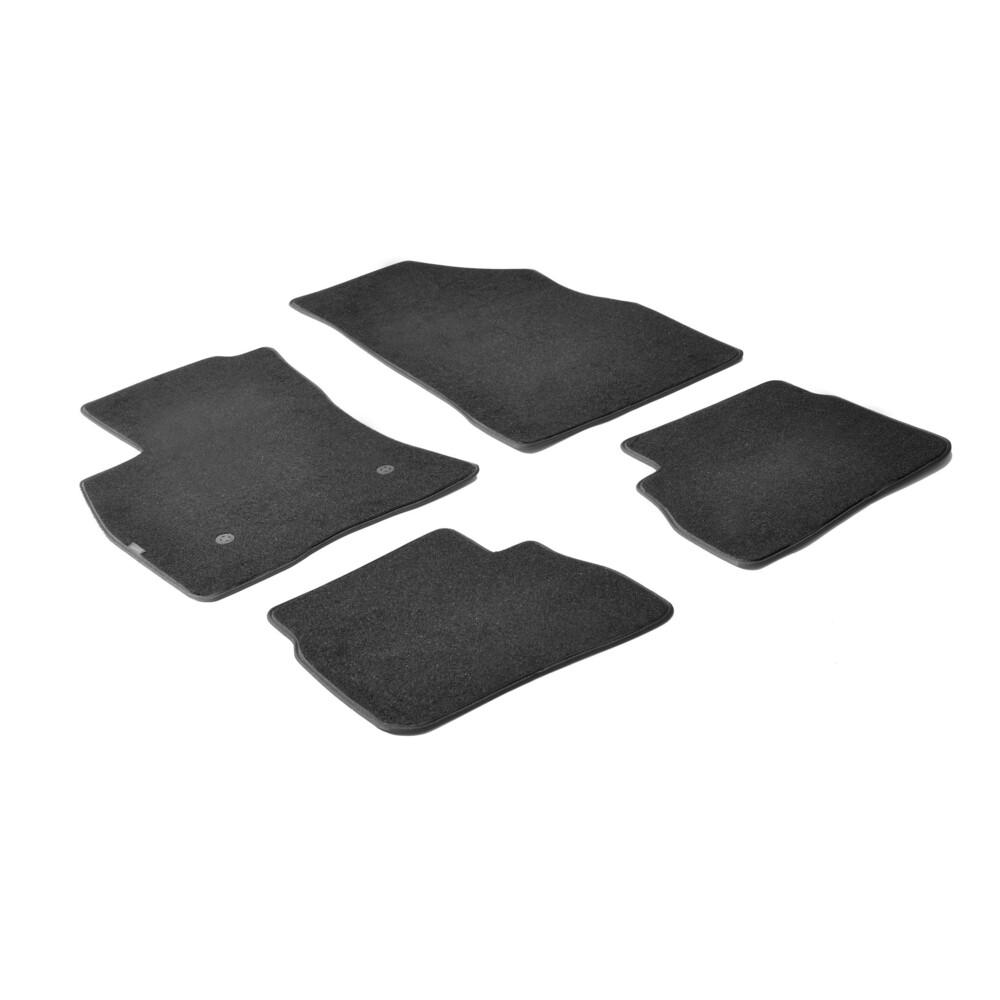 Set tappeti su misura in moquette - Nero -  Fiat Doblò 5p (01/10>) -  Opel Combo Tour 5p (04/12>)