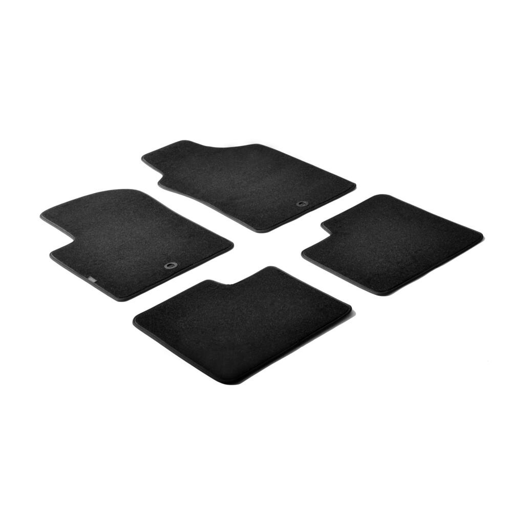 Set tappeti su misura in moquette - Nero -  Abarth 500 (07/08>05/16) -  Abarth 500C (06/10>05/16) -  Abarth 695 Biposto (12/14>)