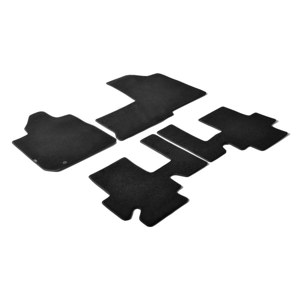 Set tappeti su misura in moquette - Nero -  Fiat Multipla (06/04>12/10)