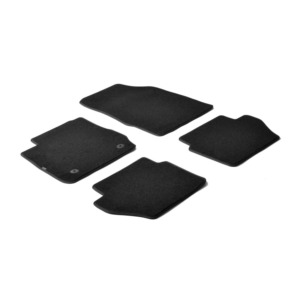 Set tappeti su misura in moquette - Nero -  Ford Fiesta 3p (03/11>05/17) -  Ford Fiesta 5p (03/11>05/17)