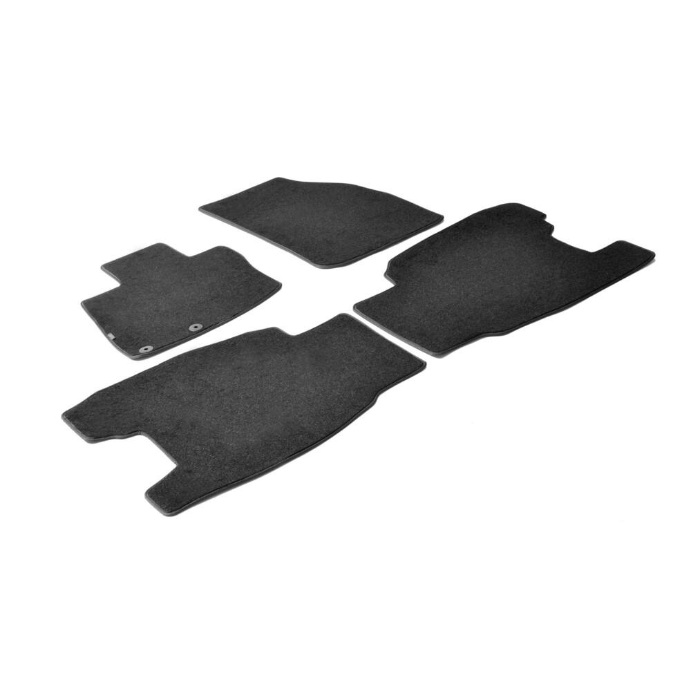 Set tappeti su misura in moquette - Nero -  Honda Civic 3p (01/06>01/12) -  Honda Civic 5p (01/06>01/12)
