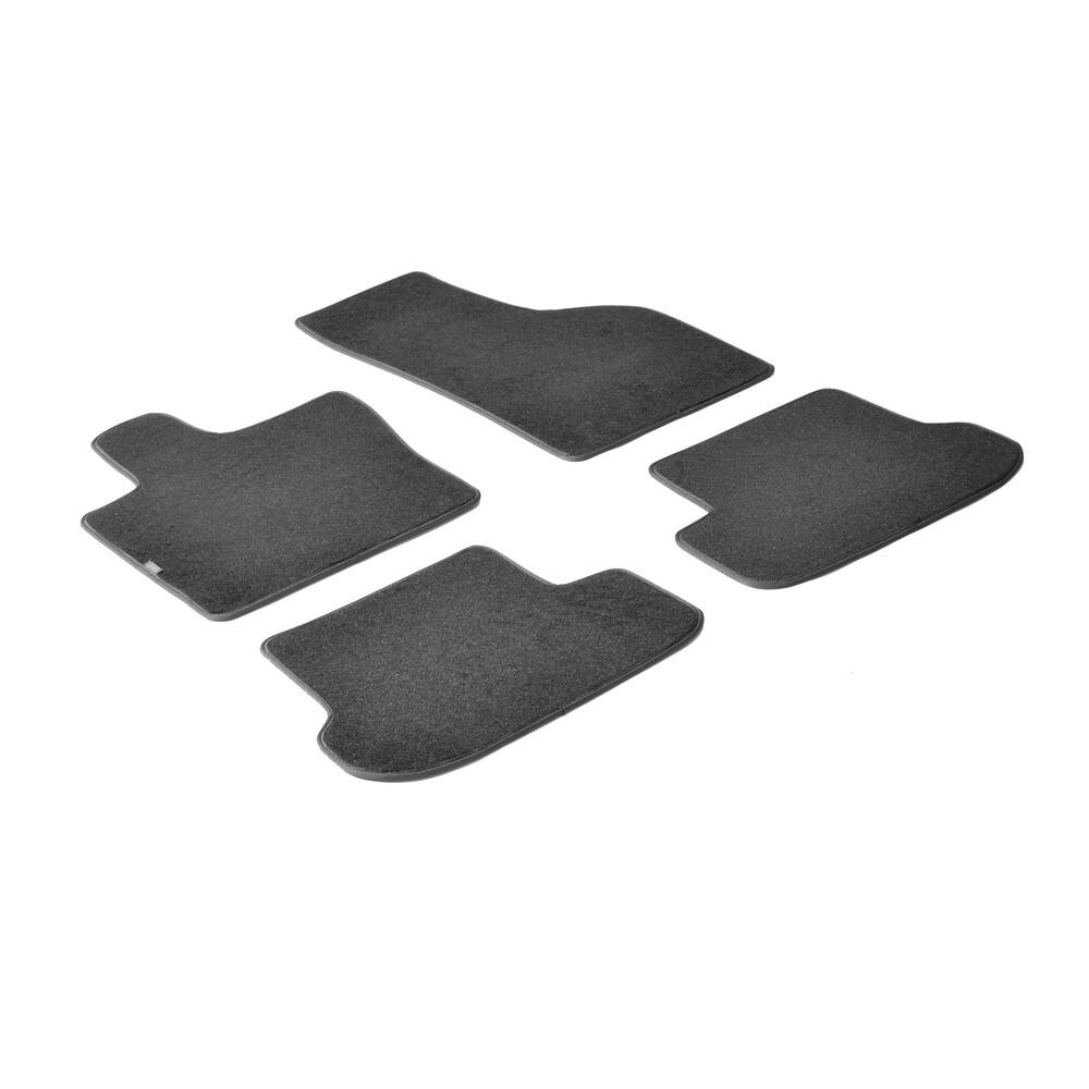 Set tappeti su misura in moquette - Nero -  Fiat Panda (02/12>) -  Fiat Panda Cross (10/14>)
