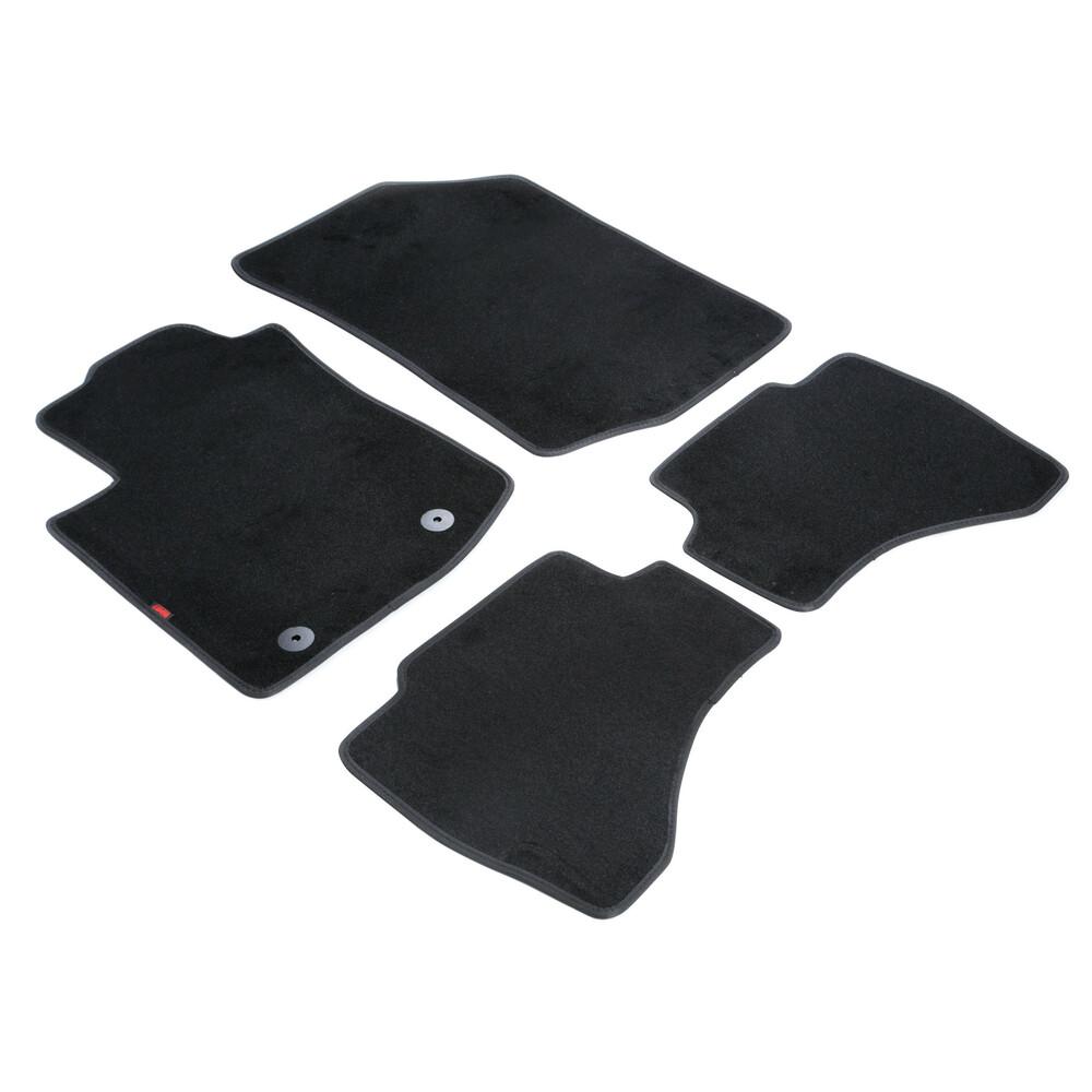 Set tappeti su misura in moquette - Nero -  Citroen C1 3p (06/14>) -  Citroen C1 5p (06/14>) -  Citroen C1 Airscape 3p (06/14>)