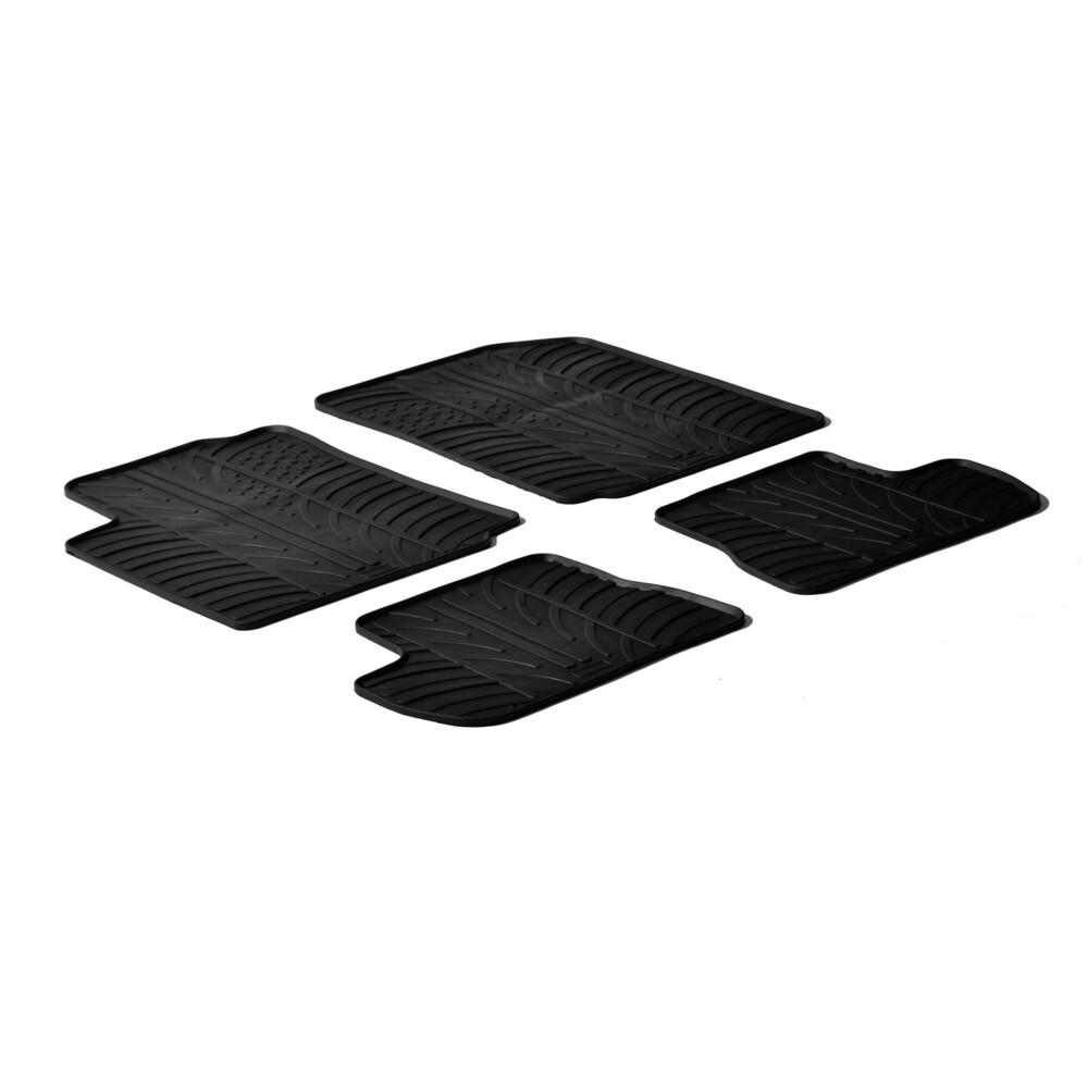 Set tappeti su misura in gomma -  Citroen C2 (10/03>03/10)