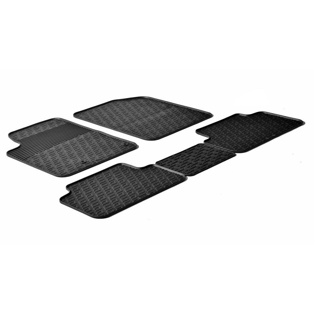 Set tappeti su misura in gomma -  Citroen Berlingo Multispace 5p (05/96>03/08) -  Peugeot Partner Tepee 5p (05/96>12/02) -  Peug