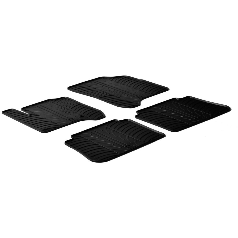 Set tappeti su misura in gomma -  Citroen C3 Picasso (01/09>09/16)