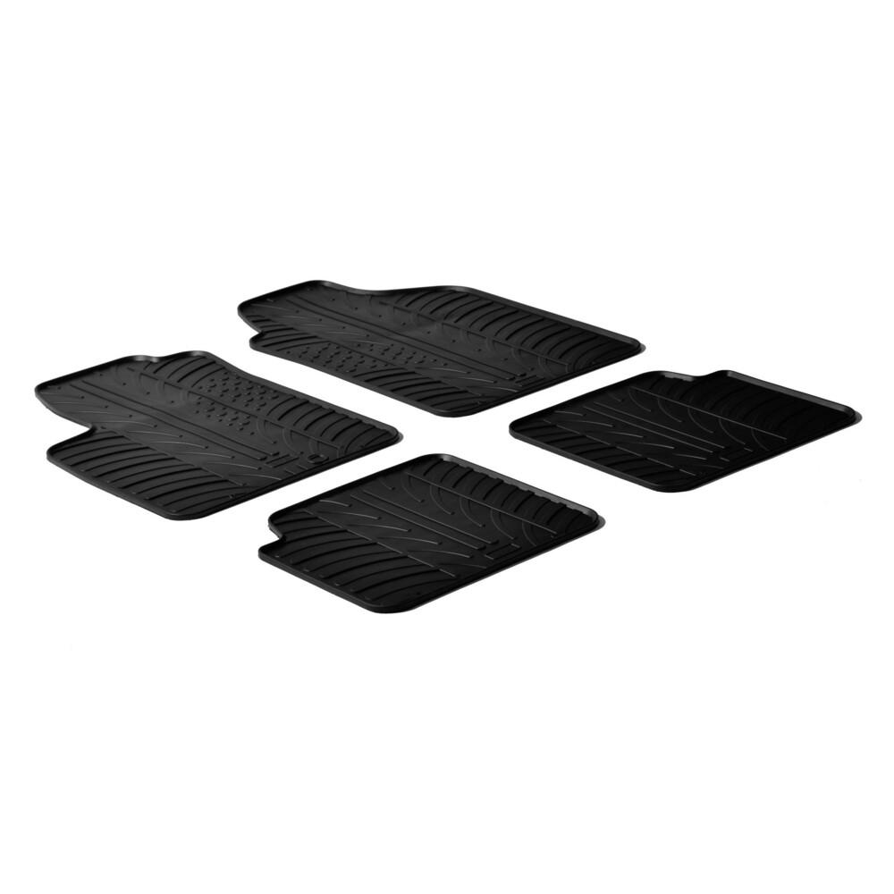 Set tappeti su misura in gomma -  Abarth 500 (07/08>05/16) -  Abarth 500C (06/10>05/16) -  Abarth 695 Biposto (12/14>) -  Fiat 5