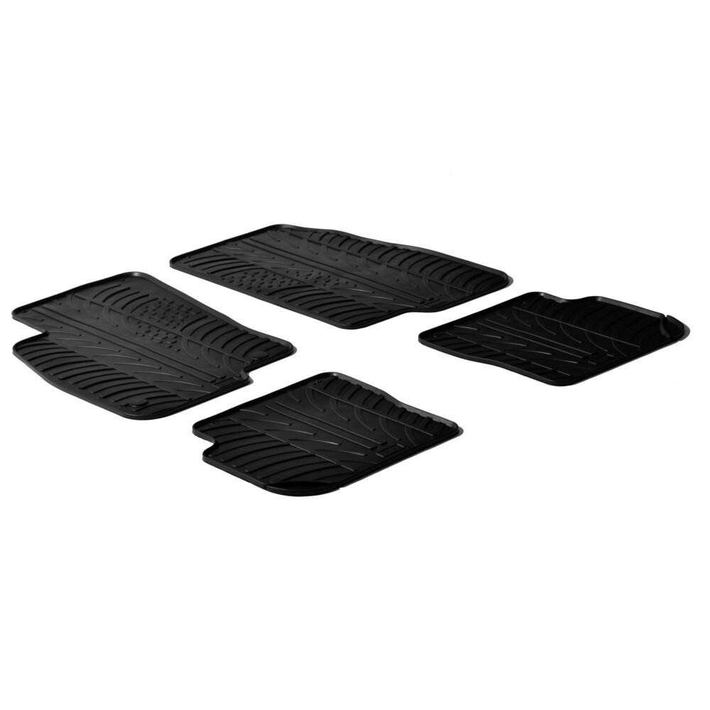 Set tappeti su misura in gomma -  Abarth Punto 3p (05/08>06/11) -  Abarth Punto Evo 3p (06/10>04/12) -  Fiat Punto 3p (01/12>) -