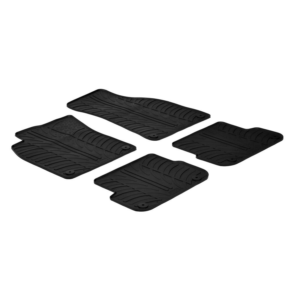 Set tappeti su misura in gomma -  Audi A6 4p (09/04>03/11) -  Audi A6 Allroad (06/06>02/12) -  Audi A6 Avant (03/05>08/11)