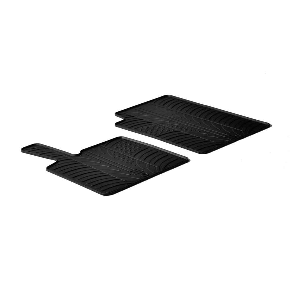 Tailored rubber mats -  Smart Fortwo (03/00>10/14) -  Smart Fortwo Cabrio (01/07>11/15)