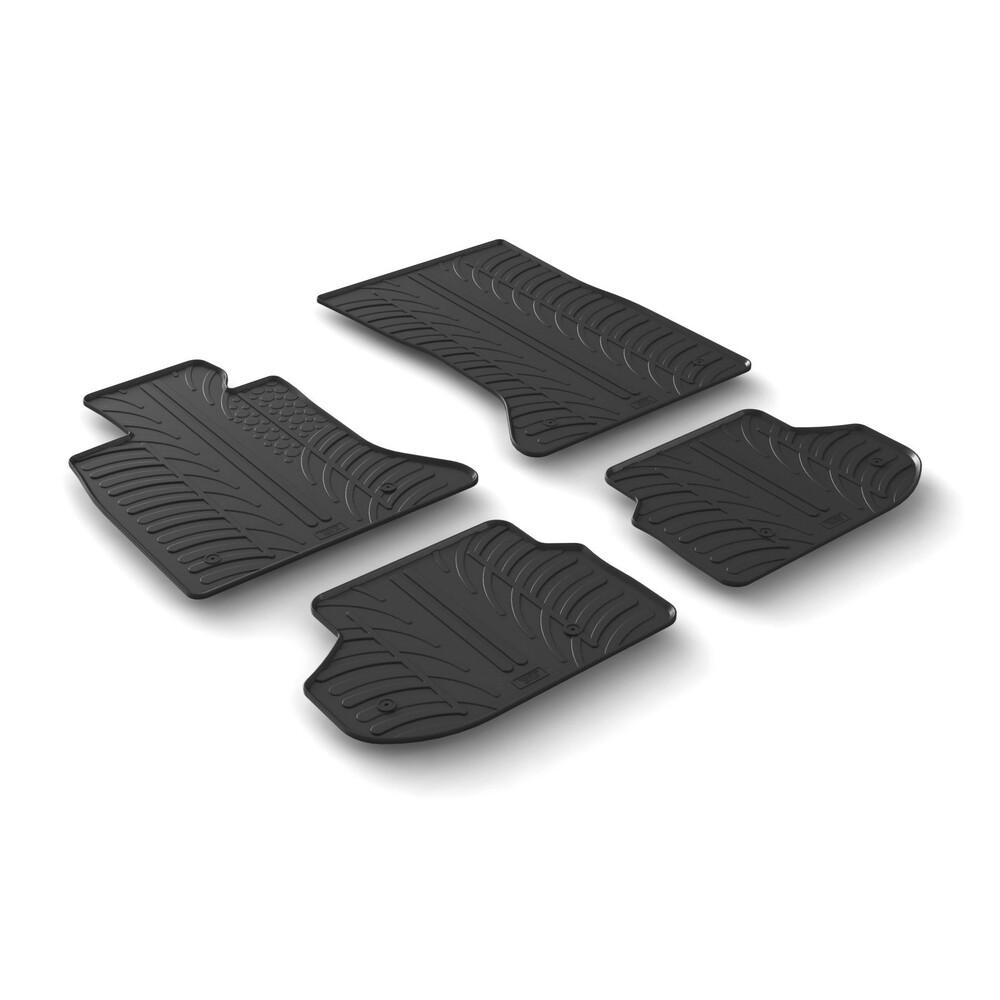 Set tappeti su misura in gomma -  Bmw Serie 5 (F10) 4p (01/10>01/17) -  Bmw Serie 5 Touring (F11) (06/10>03/17)